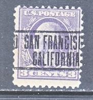 U.S. 530  Perf  11  Type IV    (o)   CALIF.   1918-20 Issue - Etats-Unis
