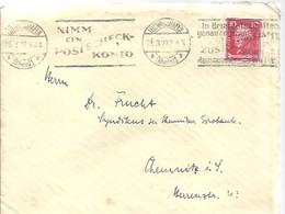 LETTER   1927 LUDWIGSHAFEN - Cartas