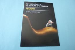BELLE ILLUSTRATION SEXY De PAUL PASTOR...12E NUMICARTA 1ER FORUM CARTAVENIR PARIS 1987 - Collector Fairs & Bourses