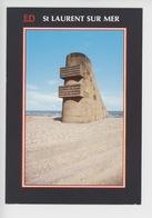 Saint Laurent Sur Mer - Omaha Beach: Monument Commémoratif Du Débarquement 6 Juin 1944 (cp Vierge) - Guerre 1939-45