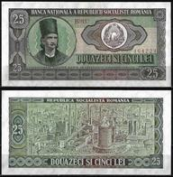 25 LEI BANKNOTE FROM ROMANIA EDITED IN 1966 - Romania