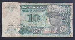 FD0513 - Zaire 10 Nouveaux Zaires Banknote 1993 #E2512596B - Zaire