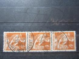 """VEND BEAUX TIMBRES DE FRANCE N° 1115 EN BANDE DE 3 , OBLITERATION """" ST-BREVIN-LES-PINS """" !!! - 1957-59 Moissonneuse"""