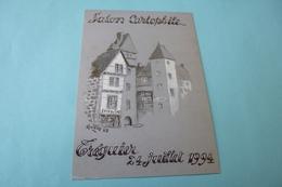BELLE ILLUSTRATION  F. GUILLOU ...SALON CARTOPHILE TREGUIER 1994 ... - Collector Fairs & Bourses