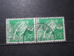 """VEND BEAUX TIMBRES DE FRANCE N° 1115A EN PAIRE , OBLITERATION """" ST-MALO """" !!! - 1957-59 Moissonneuse"""