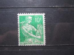 """VEND BEAU TIMBRE DE FRANCE N° 1115A , OBLITERATION """" PAU """" !!! - 1957-59 Moissonneuse"""