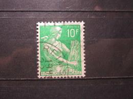 """VEND BEAU TIMBRE DE FRANCE N° 1115A , OBLITERATION """" REIMS """" !!! - 1957-59 Moissonneuse"""