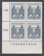 1958 , Freimarke : Bauwerke - Wohnbau Karl Marx Hof , Wien Heiligenstadt (3) ( Mi.Nr.: 1030 ) 4-er Block Postfrisch ** - 1945-60 Ungebraucht