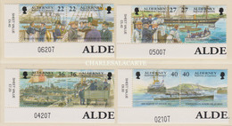 ALDERNEY AURIGNY 2001  GARRISON ISLAND 5  ROYAL NAVY  S.G. 176-183  U.M.  N.S.C. - Alderney