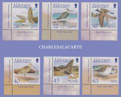 ALDERNEY AURIGNY 2005  MIGRATING BIRDS  WADERS  S.G. 259-264  U.M.  N.S.C. - Alderney