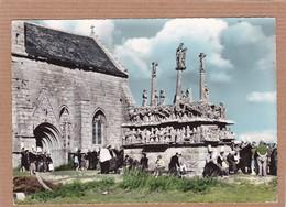 CPSM 29 Saint Jean Trolimon Le Calvaire De Tronoën Carte Animée Colorisée - Saint-Jean-Trolimon