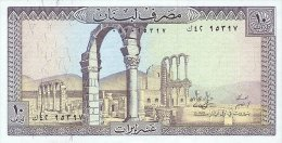 Lebanon 10 Livres  1986  Pick 63d UNC - Libano