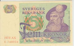 Sweden 5 Kronor 1978 Pick 51d UNC - Zweden