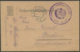 ÖSTERREICH / Feldpostkorrespondenzkarte 1. Weltkrieg K. U. K.  Feldpostamt 109 - 1850-1918 Imperio