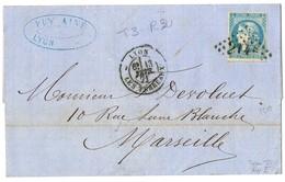 20C BORDEAUX T2 R3 SUR LETTRE SUPERBE - 1849-1876: Période Classique