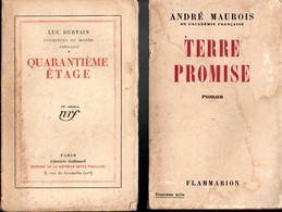 Lot 2 Livres Edit Gallimard 1927Quarantième Etage Et Terre Promise Edit Flammarion 1946 - Paquete De Libros
