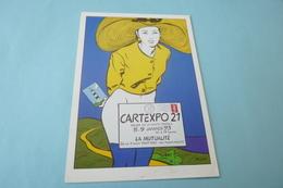 BELLE ILLUSTRATION  ALEX VARENNE ...CARTEXPO 21..LA MUTUALITE 1993 - Collector Fairs & Bourses