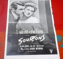 """Dossier De Presse """"Soupçons"""" Alfred Hitchcock Cary Grant Joan Fontaine 1941 - Publicité Cinématographique"""