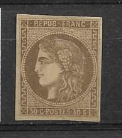 FRANCE   BORDEAUX   N° 47 NEUF - 1870 Bordeaux Printing