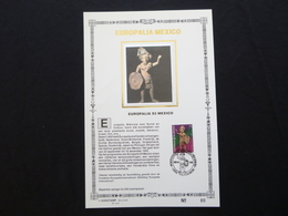 """BELG.1993 2508 : """" EUROPALIA MEXICO """" NL.versie ,Luxe Kunstbladen Zijde , 80/200 Exemplaren Limiet - FDC"""