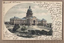 CPA USA - TEXAS - AUSTIN - State Capitol - TB PLAN EDIFICE Public - CP Voyagée 1906 - Austin