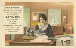 Publicité Illustrée, Machine à Coudre Singer, Compagnie Singer 34 Grande Rue à Redon - Advertising