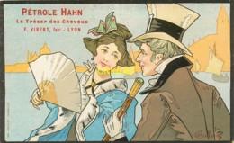 Publicité Illustrée Par Bottaro, Pétrole Hahn, Couple 19ème Et Port - Publicité