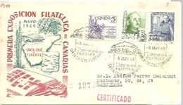 MATASELLOS  1949  SANTA CRUZ DE TENERIFE CERTIFICADO - 1931-50 Cartas