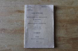 Livret Militaire  Aide Mémoire Sur La Mitrailleuses Françaises D'infanterie  Et Sur La Mitrailleuses Allemande 1916 - 1914-18