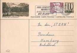 """PK 182  """"Blausee 900m Mit Doldenhorn""""           1956 - Entiers Postaux"""