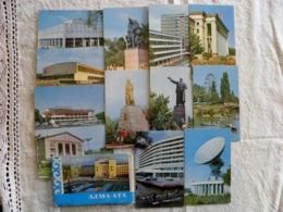 Full Complecte Of 12 Post Cards Ussr 1970 Kazakhstan Alma Ata - Kazakhstan