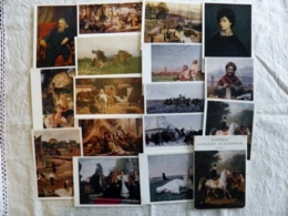 Full Complecte Of 16 Post Cards Ussr 1975 Polish Poland Polska Art Painters Paintings - Pologne