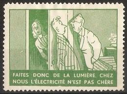 France - Publicity Stamp For Electricity - Commemorative Labels