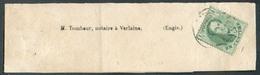N°13 - Médaillon 1 Centime Vert, Obl. Dc LIERRE Sur Bande D'imprimée Vers Verlaine (Engis) 1864 - 15637 - 1863-1864 Médaillons (13/16)