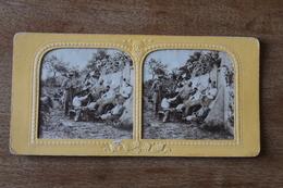 Photo Stéréoscopique  Second Empire  Les Vignerons  Monde Ouvrier - Stereoscopic