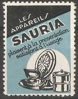 France - Publicity Stamp For Sauria Clothing - Commemorative Labels