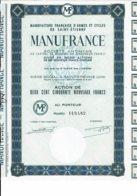 42-MANUFRANCE. MANUFACTURE D'ARMES ET CYCLES DE SAINT-TIENNE - Shareholdings
