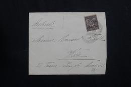 FRANCE- Enveloppe Pour L 'Autriche , Affranchissement Sage 25ct - L 62133 - Storia Postale