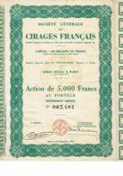56-CIRAGES FRANCAIS. STE GLE DES ... 1951 - Shareholdings