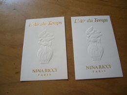 Carte Ricci L'Air Du Temps Sérigraphie Dorée - Perfume Cards