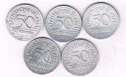 50 PFENNIG LOT DUITSLAND /4205// - 50 Rentenpfennig & 50 Reichspfennig