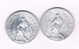 1 SHILLING 1952+1957 OOSTENRIJK /4206/ - Austria