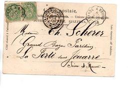 Sur CP, Cachets Postaux BELLEGARDE A BOURG Et LA FERTE JOUARRE SEINE ET MARNE 190. - Storia Postale