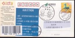 CHINA CHINE CINA POSTCARD SHANXI TAIYUAN TO JIANGSU CHANGZHOU  WITH ANTI COVID-19 INFORMATION - China