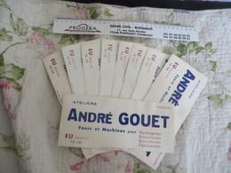 Buvards ,1 Lot De 9 Exemplaires ANDRE GOUET - Vloeipapier