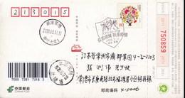 CHINA CHINE CINA POSTCARD HUNAN CHANGDE TO JIANGSU CHANGZHOU  WITH ANTI COVID-19 INFORMATION - China