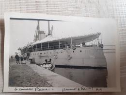 Photo Du Cuirassé France Prise En 1919 Peut-être à Marseille.  Coule En 1922 - Krieg