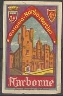 France - Narbonne Tourist Publicity Poster Stamp - Commemorative Labels