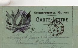 """CL-  """"Correspondance Militaire """"- 5 Drapeaux - - Storia Postale"""