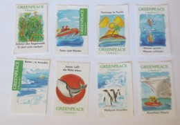 """8 Reklamemarken Greenpeace Hamburg """"Bewahrt Unser Klima""""  Komplett ♥ (51317) - Umweltschutz Und Klima"""